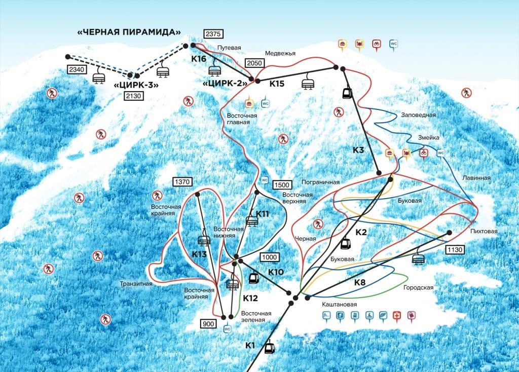 Схема трасс СТК Горная